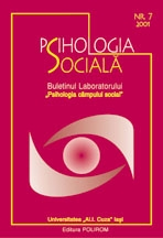 Psihologia sociala. Nr. 7/2001 - Buletinul Laboratorului 