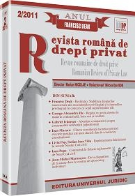 Revista romana drept privat 2/2011