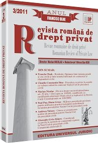 Revista romana drept privat 3/2011
