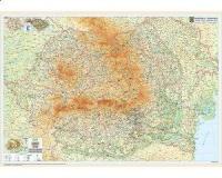 Romania - harta fizica (PD3) 200x140 cm