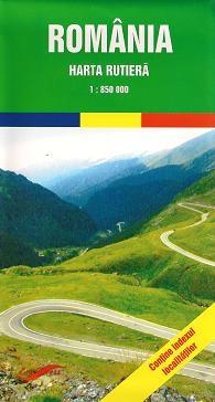 Harta rutiera Romania (Scara 1:850.000)