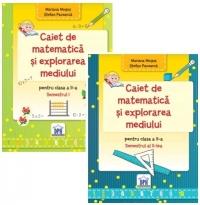Set Caiet de matematica si explorarea mediului pentru clasa a II-a (Partea I + Partea a II-a)