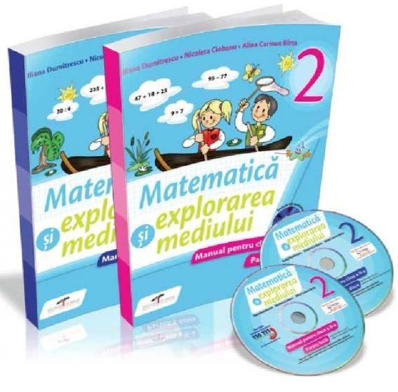 Set Matematica si explorarea mediului, Manual pentru clasa a II-a (Partea I + Partea a II-a, manualele contin CD-uri)