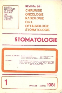 Stomatologia Revista societatii stomatologie (1981/ianuarie