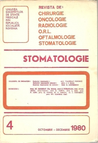 Stomatologia Revista societatii stomatologie (1980/octombrie