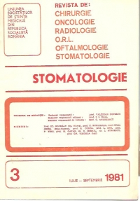 Stomatologia Revista societatii stomatologie (1981/iulie