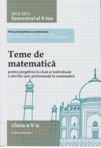 Teme matematica 2012 2013 clasa