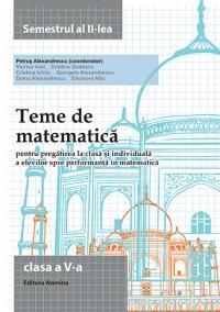 Teme de matematica - Clasa a V-a semestrul al II-lea 2014-2015