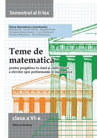 Teme de matematica - Clasa a VI-a semestrul al II-lea 2014-2015