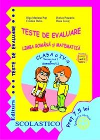 TESTE DE EVALUARE - CLASA a IV-a