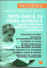 Teste grila limba romana pentru