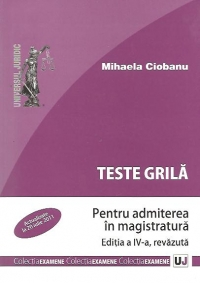 Teste grila pentru admiterea magistratura