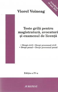 Teste grila pentru magistratura avocatura
