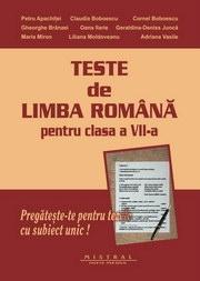 Teste de limba romana pentru clasa a VII-a