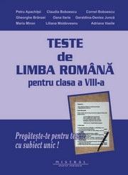 Teste de limba romana pentru clasa a VIII-a