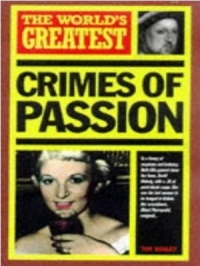 The World s Greatest Crimes of Passion