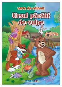 Ursul pacalit de vulpe - carte de colorat + poveste (format B5)