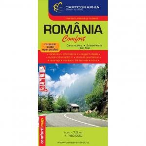 Harta Turistica Si Rutiera Romania Comfort