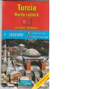 Turcia Harta Rutiera Antalya Istanbul