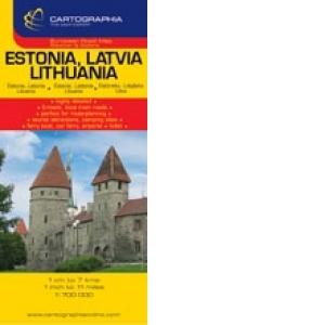 Harta Rutiera Estonia Letonia Lituania