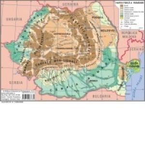 Harta Fizica A Romaniei Harta Judetelor Municipiilor Si