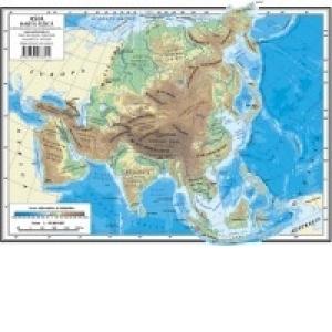 Asia Harta Fizica Harta Politica Plansa A4 Fata Verso