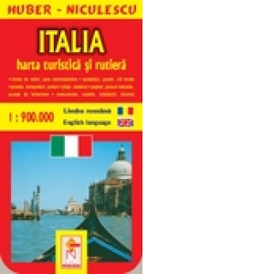 Italia Harta Turistica Si Rutiera