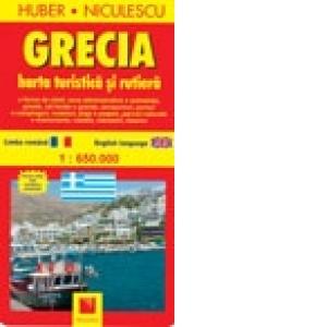 Harta Greciei Turistica Si Rutiera Huber Niculescu