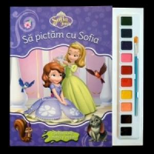 Sofia Intai Sa Pictam Cu Sofia Carte De Colorat Cu Pensula