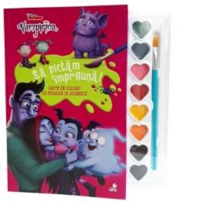 Disney Vampirina Sa Pictam Impreuna Carte De Colorat Cu