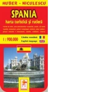 Spania Harta Turistica Si Rutiera Huber Niculescu
