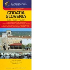 Harta Rutiera Croatia Slovenia 1 500 000