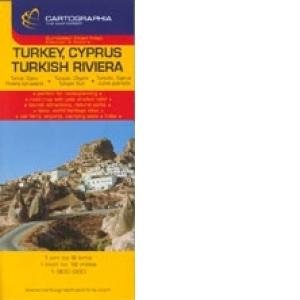Harta Rutiera Turcia Cipru Riviera Turciei