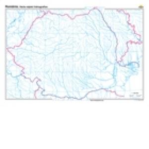 Harta Romaniei Reteaua Hidrografica 140x100cm