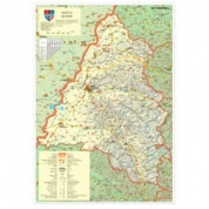 Harta Judeţul Bihor Dimensiune 140 X 100 Cm