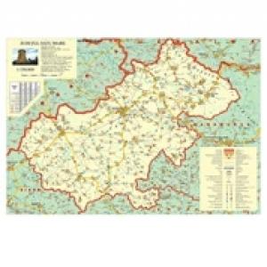 Harta Judetul Satu Mare Dimensiune 100 X 70 Cm