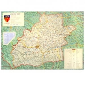 Harta Judeţul Sibiu Dimensiune 140 X 100 Cm
