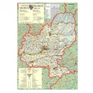 Harta Judeţul Mures Dimensiune 100 X 70 Cm