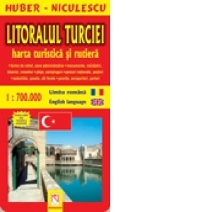 Litoralul Turciei Harta Turistica Si Rutiera Huber Niculescu