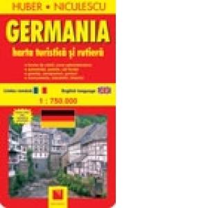 Harta Germaniei Turistica Si Rutiera Huber Niculescu