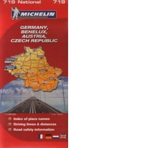 Harta Germania Benelux Austria Cehia 1 Cm 10 Km