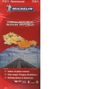Harta Cehia Si Slovacia 1 Cm 6 Km